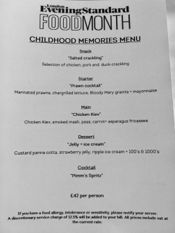 Childhood Memories Menu