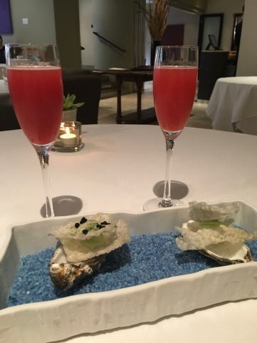 Bellini and Canapes
