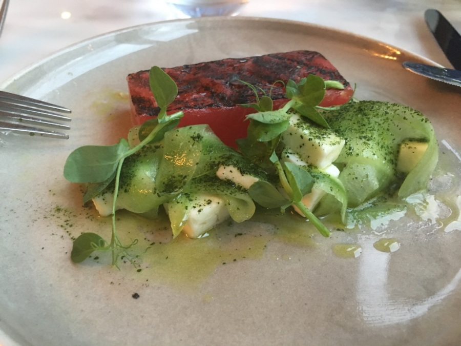 A Rave: WATERMELON and CUCUMBER from Straight + Narrow Restaurant, Limehouse, London